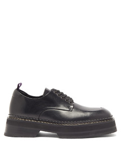 Phoenix platform-sole leather derby shoes