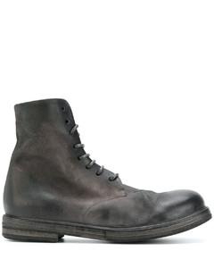 军风系带短靴