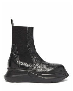 Beetle crackled-leather Chelsea boots