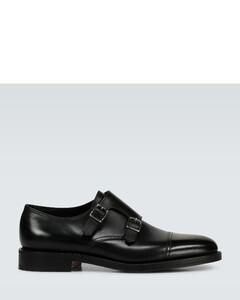William皮革孟克鞋
