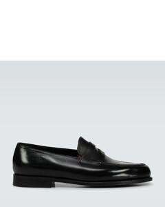 Lopez皮革乐福便鞋