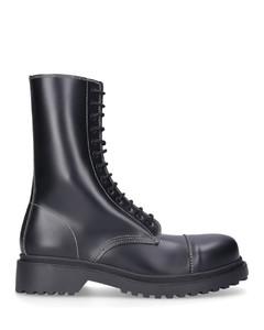 Lace-up boots WA6E0 calfskin black