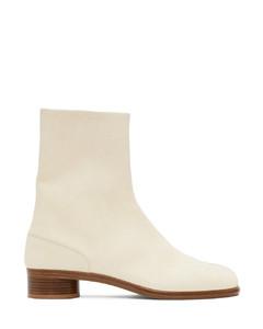 灰白色Tabi踝靴