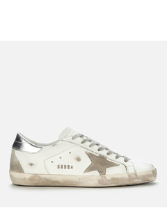 Men's Superstar Leather Trainers - White/Ice/Silver