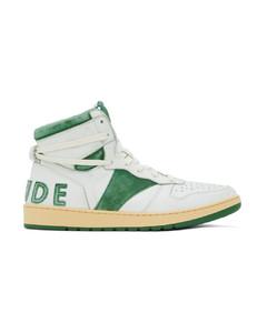 白色Rhecess Hi高帮运动鞋