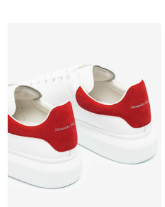 white and red Oversized sneakers