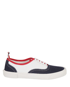 leather sneakers with maxi arrow