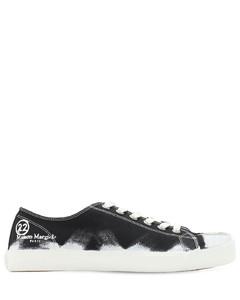 Low Top Painted Canvas Tabi Sneakers