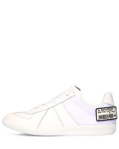Replica Leather Strap Sneakers