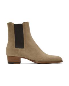 黄褐色Wyatt切尔西靴