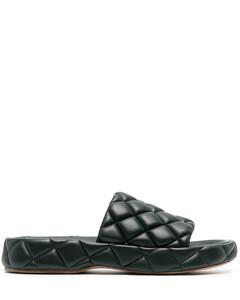 Rubber Patch Heel Tab Wedge Sole Sneaker