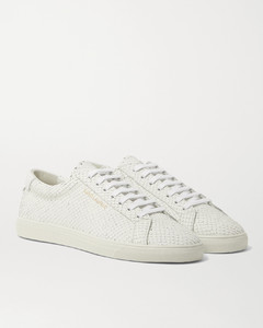 Andy Snake-Effect Leather Sneakers