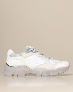 sneakers in leather and fabric