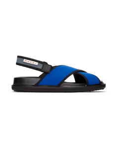 蓝色Fussbett凉鞋