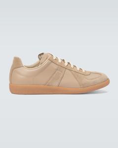 Replica绒面革和皮革运动鞋