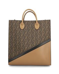 Intrecciato leather messenger bag