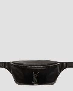 Logo Monogram Belt Bag in Black