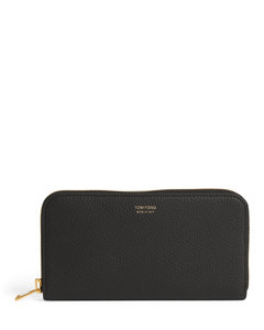 Grained Leather Continental Wallet
