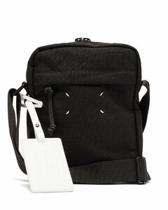 Four-stitches canvas cross-body bag