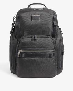 Skull-jacquard leather-trim cross-body bag
