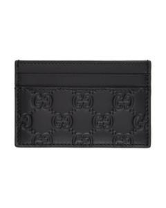 黑色Gucci Signature卡包