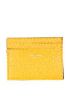 Embossed Monogram Card Holder in Black