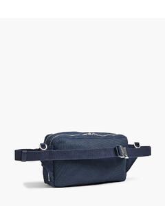 Sundie mini striped-trim faux-leather flight bag