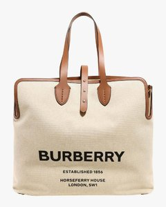 Canvas bag with leather profiles