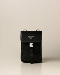 crossbody bag in nylon and saffiano leather