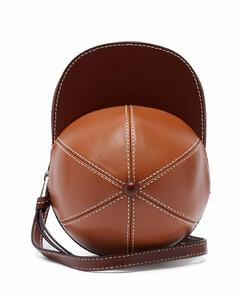 Cap midi leather cross-body bag