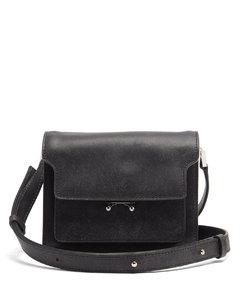 Trunk mini grained-leather cross-body bag