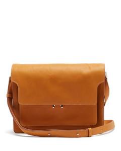 Trunk small leather cross-body bag