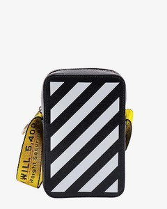 Perforated-Leather Bi-Fold Wallet in Black