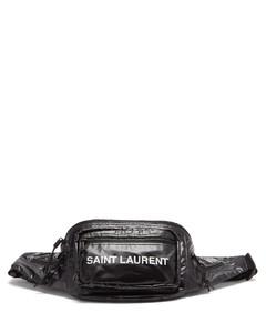 Logo-print ripstop cross-body bag