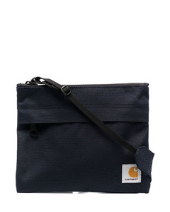 logo-print clutch bag