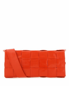 Coral leather The Stretch Cassette crossbody bag