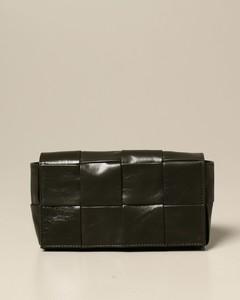 Cassette belt bag in woven leather