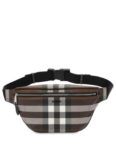 Cason Check E-canvas Belt Bag
