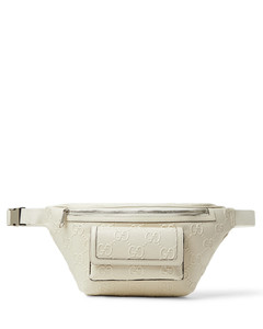Logo-Embossed Perforated Leather Belt Bag