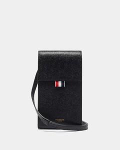 Tricolour-stripe pebbled-leather cross-body bag