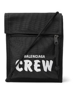 Explorer Logo-Embroidered Canvas Messenger Bag