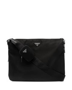 logo-plaque shoulder bag