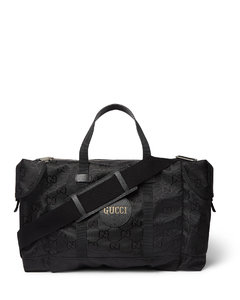 Off the Grid Leather-Trimmed Monogrammed ECONYL Canvas Duffle Bag