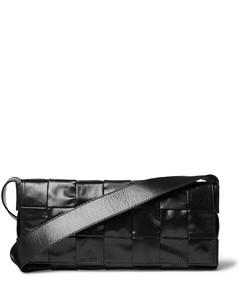 Intrecciato Creased-Leather Messenger Bag
