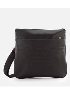 Men's Flat Messenger Bag - Black