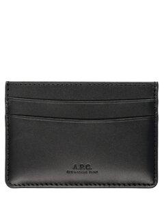 Logo-embossed leather cardholder