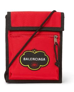 Explorer Logo-Appliquéd Canvas Messenger Bag