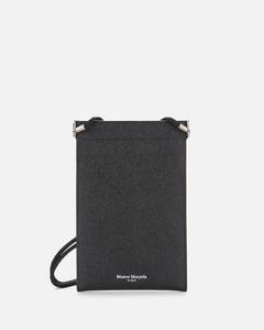 Men's Leather iPhone Pouch Case - Black