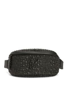Benech medium spike-embellished leather bag