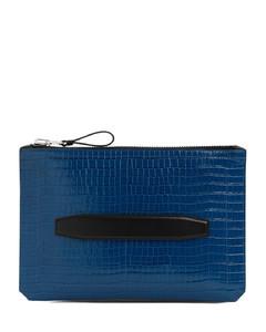 logo print zipped cardholder
